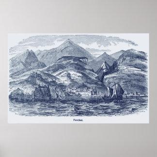 Funchal, Madeira Vintage Print