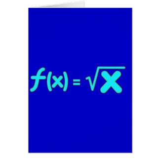 Función de raíz cuadrada - símbolos de la matemáti tarjeta de felicitación