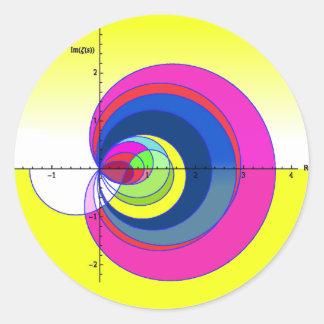 Función de zeta de Riemann yellow.png Pegatinas Redondas