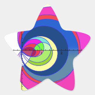 Función de zeta de Riemann yellow.png Calcomanía Forma De Estrella
