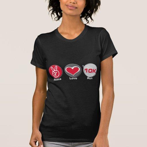 Funcionamiento 10K del amor de la paz Polera