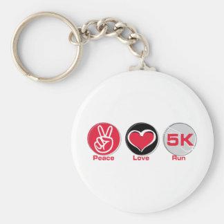 Funcionamiento 5K del amor de la paz Llavero Personalizado