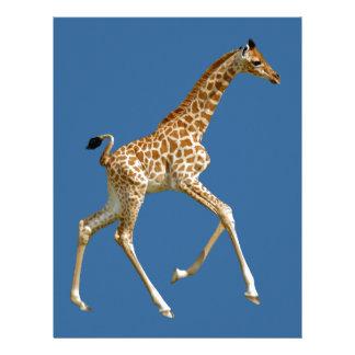 Funcionamiento aislado de la jirafa del bebé membretes personalizados
