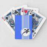 Funcionamiento azul baraja de cartas