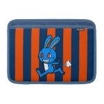 Funcionamiento azul lindo del conejo fundas macbook air