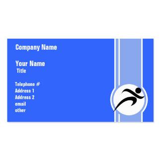 Funcionamiento azul tarjetas de visita