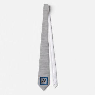 Funcionamiento cepillado de la mirada del metal corbata personalizada