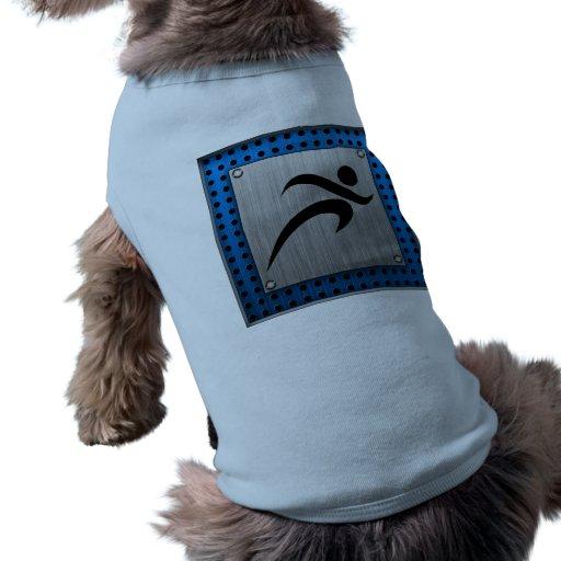 Funcionamiento cepillado de la mirada del metal camisetas de mascota