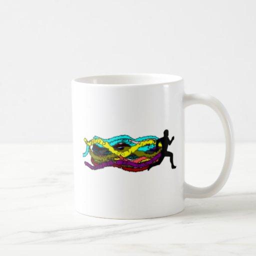 Funcionamiento colorido tazas de café