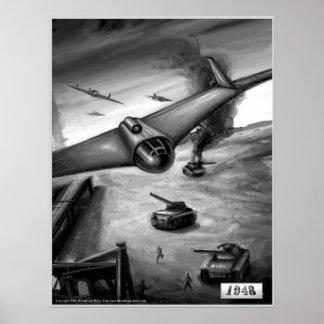 Funcionamiento de bombardeo E-555 Póster