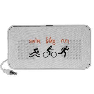 Funcionamiento de la bici de la nadada notebook altavoz