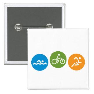 Funcionamiento de la bici de la nadada pin cuadrada 5 cm