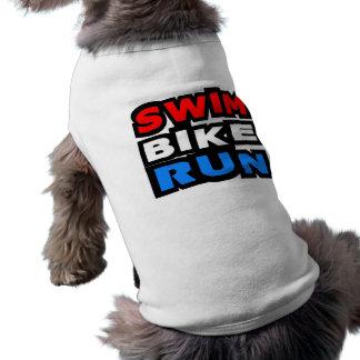 Funcionamiento de la bici de la nadada camiseta de perro