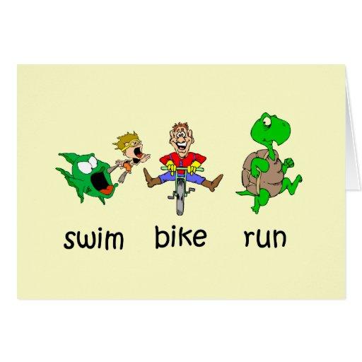 Funcionamiento de la bici de la nadada tarjeta