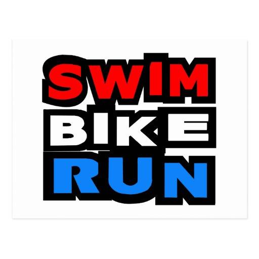 Funcionamiento de la bici de la nadada tarjeta postal