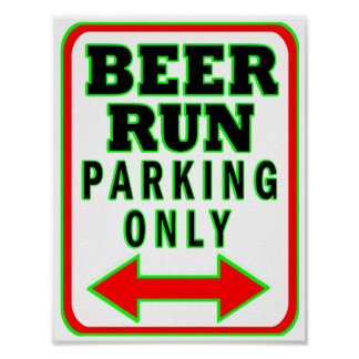 Funcionamiento de la cerveza que parquea solamente póster