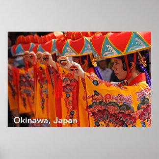 Funcionamiento de la danza de Ryukyu Poster