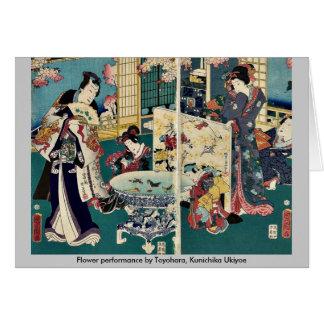 Funcionamiento de la flor por Toyohara, Kunichika  Felicitaciones