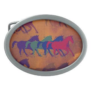 funcionamiento de la granja de los caballos hebilla de cinturón oval