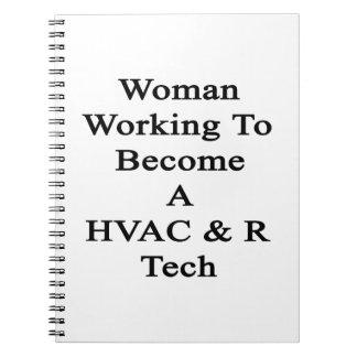 Funcionamiento de la mujer a hacer una tecnología libro de apuntes con espiral