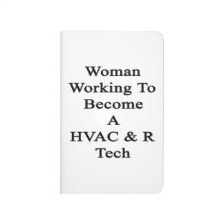 Funcionamiento de la mujer a hacer una tecnología cuaderno grapado