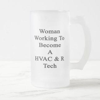 Funcionamiento de la mujer a hacer una tecnología taza cristal mate