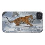 Funcionamiento de la nieve del tigre Case-Mate iPhone 4 fundas