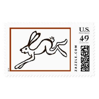 Funcionamiento de las liebres del funcionamiento sello postal