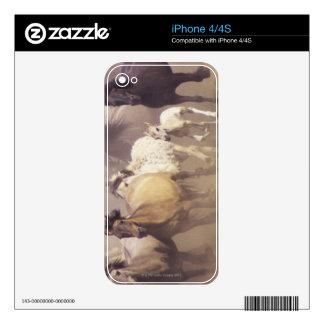 Funcionamiento de los caballos salvajes calcomanía para el iPhone 4