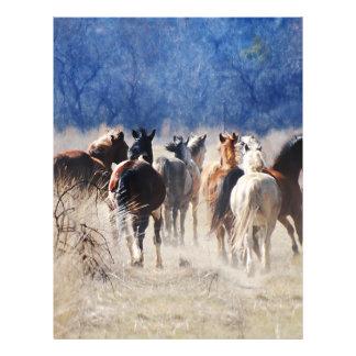 """Funcionamiento de los caballos salvajes folleto 8.5"""" x 11"""""""