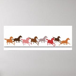 Funcionamiento de los caballos salvajes póster