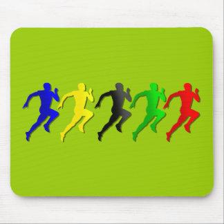 funcionamiento de los corredores del 100m los 200m alfombrillas de ratones