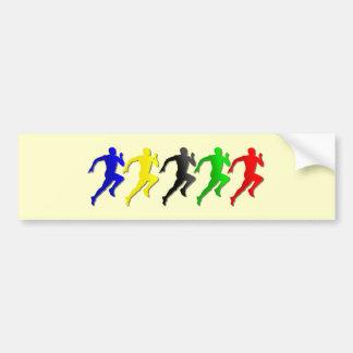 funcionamiento de los corredores del 100m los 200m pegatina para auto