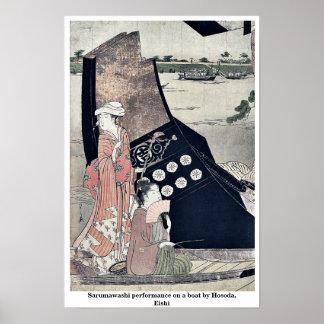 Funcionamiento de Sarumawashi en un barco por Hoso Posters