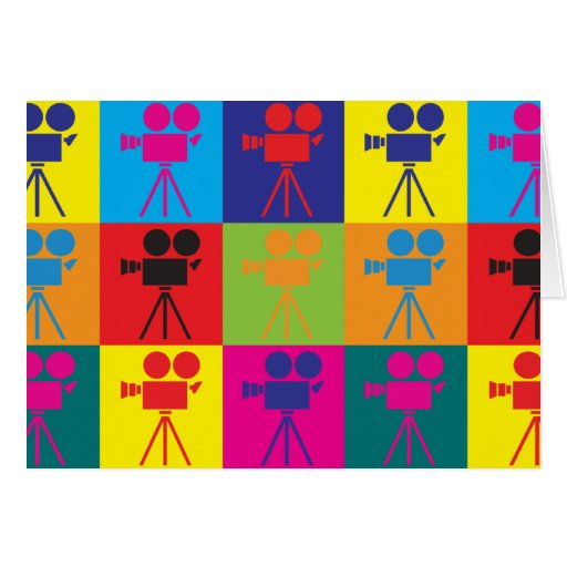 Funcionamiento de un arte pop de la cámara tarjetas