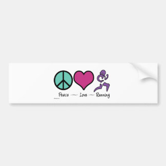 Funcionamiento del amor de la paz etiqueta de parachoque