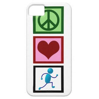 Funcionamiento del amor de la paz iPhone 5 carcasas