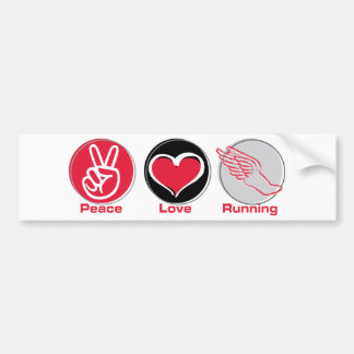 Funcionamiento del amor de la paz pegatina para auto