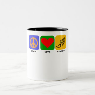 Funcionamiento del amor de la paz tazas de café
