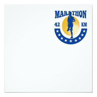 """Funcionamiento del atleta del corredor de maratón invitación 5.25"""" x 5.25"""""""