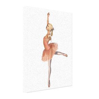 Funcionamiento del ballet - actitud de la actitud lienzo envuelto para galerías