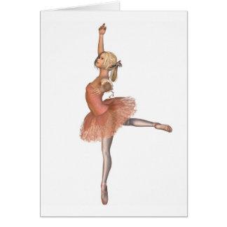 Funcionamiento del ballet - actitud de la actitud tarjeta