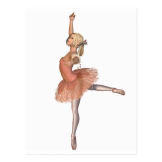 Funcionamiento del ballet - actitud de la actitud tarjeta postal