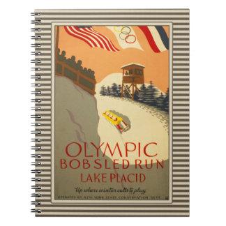 Funcionamiento del Bobsled, Lake Placid 1932 Spiral Notebooks