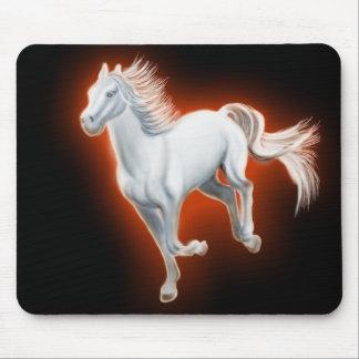 Funcionamiento del caballo blanco tapetes de ratón