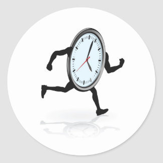 Funcionamiento del carácter del reloj pegatina