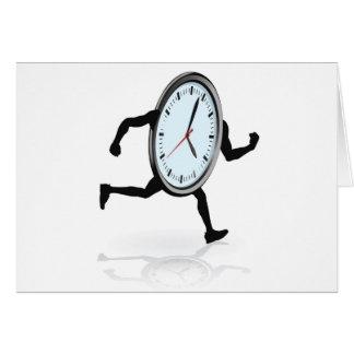 Funcionamiento del carácter del reloj felicitación