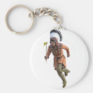 Funcionamiento del guerrero de Cheyenne principal Llavero Redondo Tipo Pin