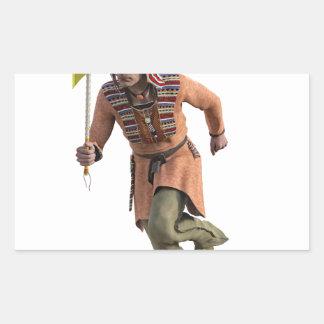 Funcionamiento del guerrero de Cheyenne principal Pegatina Rectangular