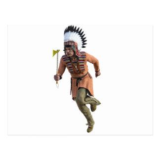 Funcionamiento del guerrero de Cheyenne principal Postales